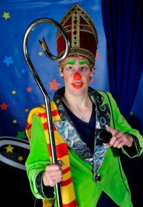sinterklaasfeest met clown